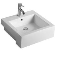 半嵌入式陶瓷长方形卫生间面盆半挂洗手洗脸盆