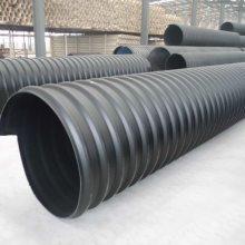 热销中黑色钢带增强排污管 HDPE钢带螺旋波纹管DN1000钢带管