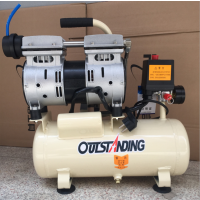 供应奥突斯静音无油空压机 550W小开空气压缩机木工家用喷漆