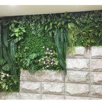 紫萱工艺绿物墙 花墙 厂家直销仿真花草坪墙仿真植物墙欢迎合作东莞