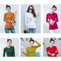 2018秋冬新款韩版修身显瘦长袖t恤女百搭女装外穿打底衫上衣体恤