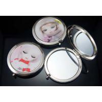 广州便携折叠金属化妆镜生产厂家、专业生产各种化妆镜、欢迎定制批发