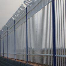 小区围墙防护栏 黑色锌钢围栏图片 佛山围墙锌钢围栏