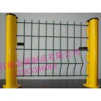 供应桃形立柱隔离网围墙,铁丝护栏网,铁丝网栏,三折弯防护网,