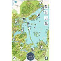 手绘地图_麦扑旅游_台州景区手绘地图