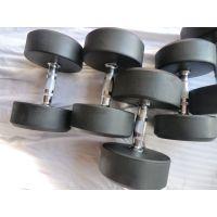 商用足重圆头包胶哑铃 环保橡胶 男士健身哑铃10kg15kg20kg-50公斤 健身房 铸铁哑铃