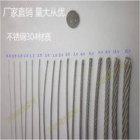 316L不锈钢牵引绳 清远不锈钢丝绳配件 1.0MM铝扣