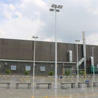 雅浩室外球场灯柱 学校球场照明厂家 室外镀锌灯杆