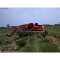 水陆挖掘机改装,水陆两用挖掘机出租租赁