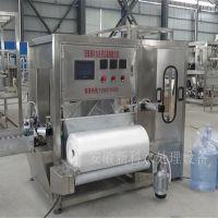 安徽新科桶装全自动套袋机 纯净水包装设备 矿泉水生产设备