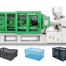 山东通佳TH系列卧式曲肘注塑机,一次性塑料筐生产设备,塑料注射成型机