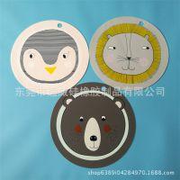 新款儿童动物餐垫丹麦北欧简约狮子熊企鹅婴儿环保婴幼儿硅胶餐垫