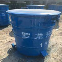 铁制环卫圆桶四轮垃圾桶生产厂家