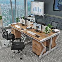 简约职员办公桌椅组合2/4/6人位现代电脑桌椅员工屏风办公桌家具
