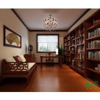 普洛瑞斯现代中式风格实木定制书柜