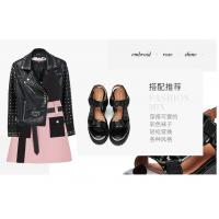 欧美时尚女鞋 Jeffrey Campbell黑色厚底松糕鞋女魔术贴舒适凉鞋女潮流2018新品