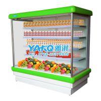 供应雅淇大型水果保鲜柜,风冷分体机超市风幕柜,饮料冷藏展示柜