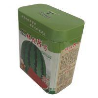 供应西瓜种子罐 福娃8号铁罐专业定制