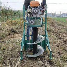 硬质土地打桩机 杨树苗种植挖坑机 启航大马力拖拉机钻坑机
