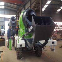 湖北大冶铲车式混凝土搅拌车4-6立方混凝土搅拌车 移动式搅拌车