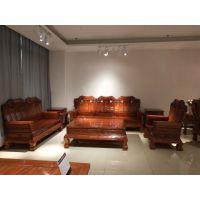供应批发缅甸花梨木家具客厅沙发10件套名琢世家厂
