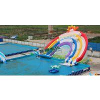 定制大型水上乐园支架泳池 手摇船配套游乐充气水池