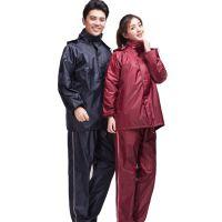 男女分体式雨衣雨裤套装 成人双层加厚摩托车电动车外卖劳保雨衣