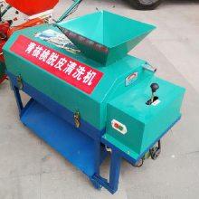 红色新款核桃扒皮机 带毛刷钢刷清洗鲜核桃的机器