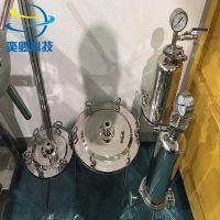 供应单层过滤器 小型实验用 不锈钢盘式过滤器 奕卿科技技术