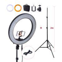 "fosoto 18"" RL-18 环形LED摄影灯 主播摄影视频美白灯 Ring Light"