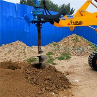 秦皇岛市4102发动机的铲车电杆打坑机 售后有保障 洪鑫河北生产电杆钻孔机厂家厂家