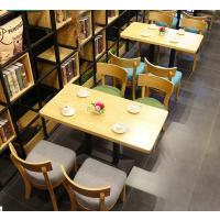 倍斯特日系北欧咖啡厅餐桌甜品店奶茶店休闲会所桌椅售卖楼冷饮实木桌椅组合厂家定制