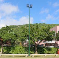 新兴县电线杆生产厂家  篮球场高杆灯安装多高?常规球场灯光配货