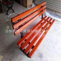 户外小区实木长椅 室外广场铸铁防腐木靠背椅 批发塑木公园坐凳