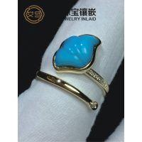 专业绿松石定制镶嵌定制饰品,湖北艾氏珠宝镶嵌