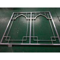 铝本色墙体鱼字形组合铝窗花_烧焊铝扁管制造合作厂家