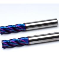 台湾OCT58度钨钢铣刀数控合金铣刀cnc涂层金属平底立铣刀二四刃