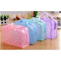 pvc彩色透明防水袋旅行化妆品洗漱日用品收纳包