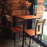 loft工业风格办公桌实木会议桌长桌铁艺餐桌椅组合咖啡桌美式电脑桌工作椅