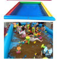 沙池游乐玩具城报价 中号沙滩池宝宝娱乐园 商场里能摆打气沙滩池乐园吗