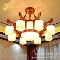 灯具热销 新中式客厅卧室书房大厅红木灯 别墅客厅吊灯 特价红木