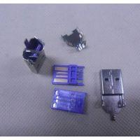 OPPO R9闪充/快充~过大电流(5A-10A)USB公头三件套(紫色)alt