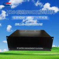 监控矩阵解码器网络厂家直销 H264网络高清数字矩阵16屏一卡双路