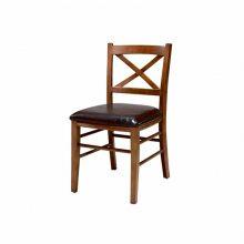 美式乡村实木餐椅定做,交叉背餐厅椅子直销