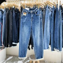 工厂便宜清货女士牛仔裤小脚裤九分裤清仓几块钱弹力牛仔裤清货