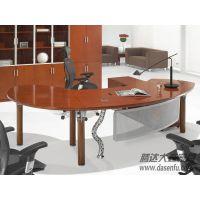 北京腾达大森现代实木办公桌班台电脑桌厂家DS-SWC017