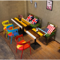 倍斯特韩式复古防火板餐桌主题西餐厅火锅店厂家定制