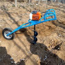 电线杆埋桩打孔机 富兴拖拉机带动种树打坑机 果树种植施肥机厂家