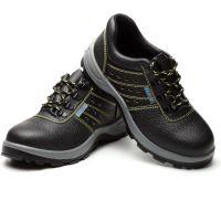 现货带透气孔聚氨酯底耐磨劳保鞋 钢头钢底防砸防刺穿安全鞋
