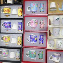 办公用品陶瓷茶杯批发 景德镇陶瓷杯定制 景德镇礼品陶瓷马克杯厂